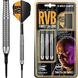 Target Raymond van Barneveld Darts–Soft Spitze–RVB Messing–Barney 18g–mit Darts Ecke gebogen Kugelschreiber