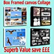 Your Photo Collage Canvas Print - Personalised on Box/Wrapped 24x16 inch by Bellevue Print