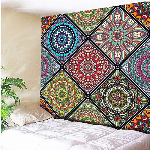 mmzki Natürliche Tapisserie Wandbehang Holz und Cloud Forest Elk Wandkunst Boho Decor psychedelischen Wandteppich Hippie Wand Tuch Tapisserie - 230 X 150 cm