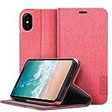 Omenex Etui Folio pour iPhone X Apex Knit Coral