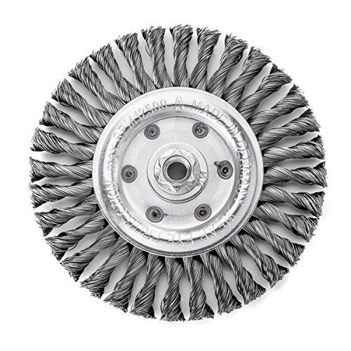 less tresse Bonhomme de brosse ronde 125 x 14 mm 20 Z STH lisse 0,50 mm GEW. M 14, 473217
