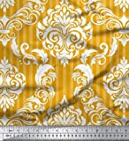 Soimoi Gold SAMT Stoff Streifen & Vektor-Design Damast