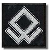 Odal rune - bordado parche, 6 X 6 cm