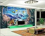 Chan-Mei 3D Wallpaper Benutzerdefinierte Wandbild 3D Raum Wallpaper 3D Einstellung Wand U-Boot Wale Gemälde Foto 3D Wandbilder Tapeten Hintergrundbild Tapete Fresko Wandmalerei 200cmX150cm