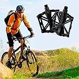 JJOnlineStore-Un par/2PCS Ultralight Aluminio Plataforma Plana Pedales para Bicicleta MTB BMX Bicicleta de montaña Ciclismo Racing Izquierda Derecho Eje de Pedales 9'/16Pulgadas, Negro