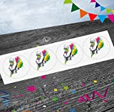 Rainbow Roller Skates / Skating Party Stickers Strips (Pack of 12) Party Bag Fillers