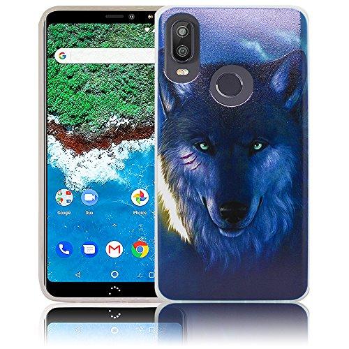 thematys Passend für Bq Aquaris X2 / X2 PRO Nacht Wolf Handy-Hülle Silikon - staubdicht stoßfest & leicht - Smartphone-Case