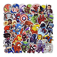 100 Pcs Super Hero Stickers for Laptop Car Motorcycle Fridge Bike Guitar Backpack Decals Cartoon Waterproof Stickers
