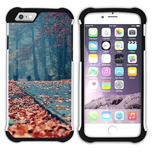 Graphic4You Herbst Leaves Bäume Postkarte Hart + Weiche Kratzfeste Hülle Case Schale Tasche Schutzhülle für Apple iPhone 6 / 6S Design #15