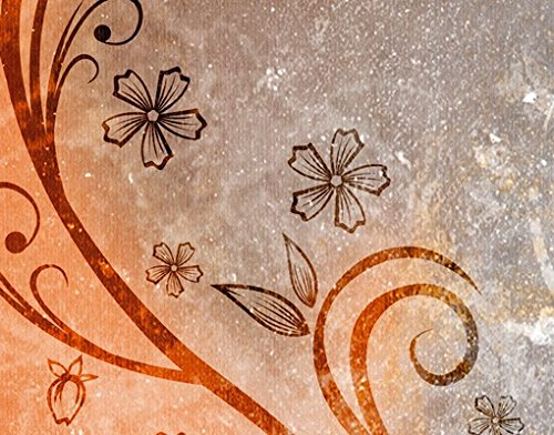 Design Briefkasten Dignity   Ranken Schnörkel Blüten Blumen Bunt, Postkasten mit Zeitungsrolle, Wandbriefkasten, Mailbox, Letterbox, Briefkastenanlage, Dekorfolie - 4
