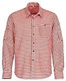 Gloria Wears Trachtenhemd für Trachten Lederhosen Freizeit Hemd rot,balu,Grun-kariert Gr. S-XXXL (L, Rot)