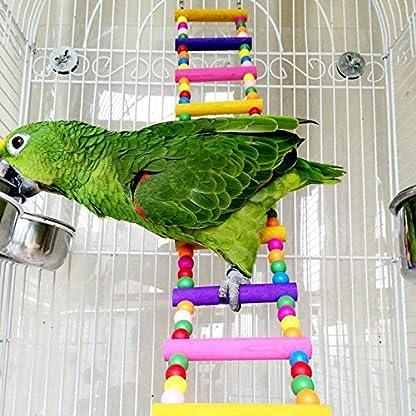 Rope Ladder Rainbow Bridge Bird Toy 27 Inch 1
