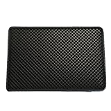 Pet Champion 2-Layer Sifting Easy Clean Waffle Pattern Litter Mat, Black, Large