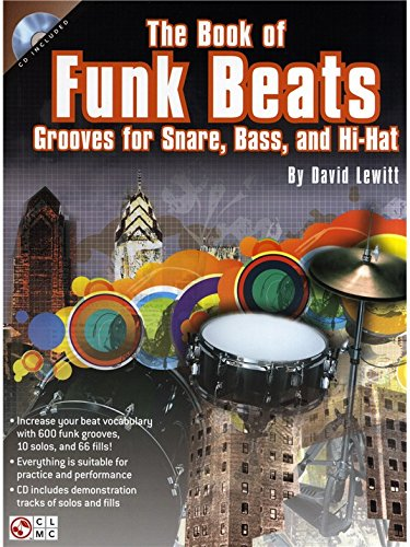 David Lewitt: The Book Of Funk Beats. Partitions, CD pour Percussion, Batterie