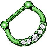 Piersando Piercing universale ad anello per setto nasale, trago, elice, orecchio, naso, labbro, seno, intimo tribale, anodizz