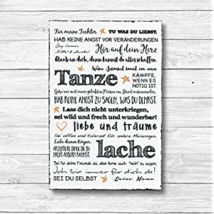 Für meine Tochter – Dekoschild Wandschild Holz Deko Wand Schild 20x30cm Holzdeko Holzbild Geschenk Mitbringsel Geburtstag