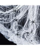 Spinnennetz inkl. 6 Spinnen Halloween Deko Lights4fun