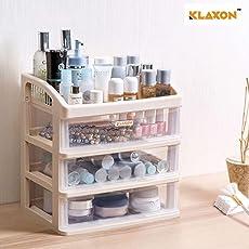 Klaxon Plastic 4-Tier Bathroom Kitchen Storage Organizer Shelf (Pink)