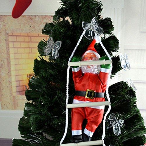 Kicode creativo babbo natale climbing rope ladder xmas trees pendente hanging home decor ornament