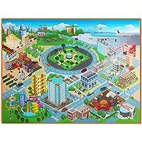 Everpert bébé Ramper Tapis de jeu Tapis enfants carte de route rampants Pad, étanche pliable d'escalade jouet X 1200x 900x 40mm