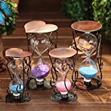 Lotefong Plum Blossom Copper Art Creative Furniture Decorative Ornaments, 16 Cm Heart-Shaped Base, Purple Hourglass