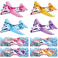Little Unicorn Dreams 12x Unicorn Gliders Perfect For Kids/Girls Party Loot Goody Bags - Mix Of Colours