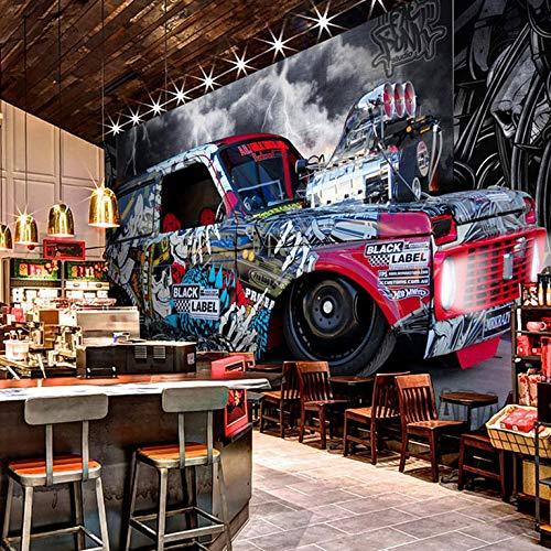 Fototapete Moderne Kreative Black Label Auto Fototapete Restaurant Cafe Einstellung Zimmer Wand Hintergrund Tapete 1㎡ -