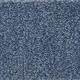 Teppichboden Auslegware | Velours gemustert | 400 und 500 cm Breite | blau | Meterware, verschiedene Größen | Größe: 2,5 x 4m