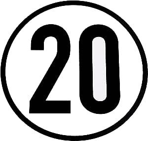 Wamo Geschwindigkeitsschild 20km H Auto