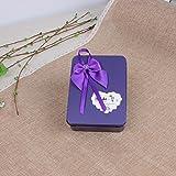 Wmshpeds Sapone rosa fiore piccola scatola regalo di nozze con la mano di monili cerimonia di piazza 12