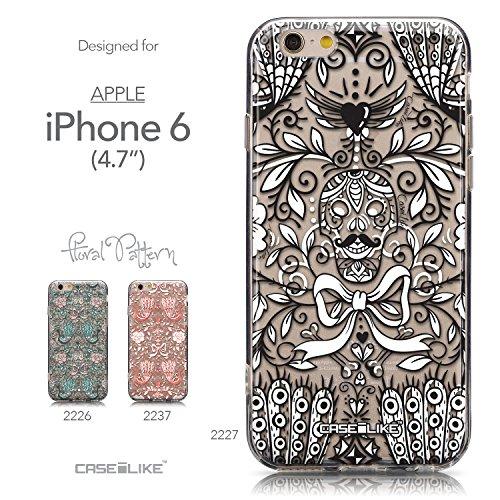 CASEiLIKE Graffiti 2703 Housse Étui UltraSlim Bumper et Back for Apple iPhone 6 / 6S (4.7 inch) +Protecteur d'écran+Stylets rétractables (couleur aléatoire) 2227