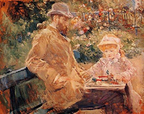 Das Museum Outlet-Eugene Manet und seine Tochter bei Bougival-1881-Poster Print Online kaufen (76,2x 101,6cm)