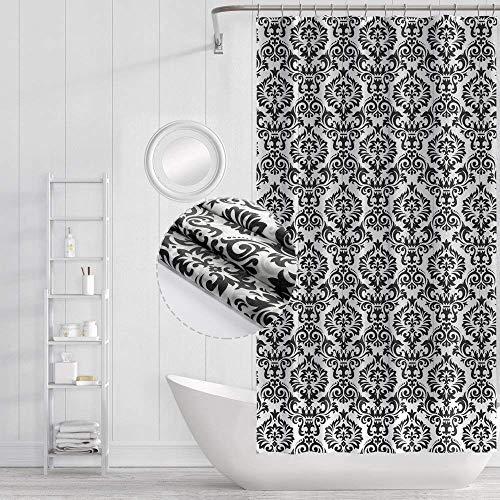 Funria tenda da doccia impermeabile con ganci, resistente alle muffe, antibatterico, facile da pulire, tenda per la doccia lavabili per il bagno, 180 x 180cm