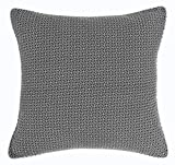 Christian Dyed Printed Polycotton Square Cushion Cover - Black/White