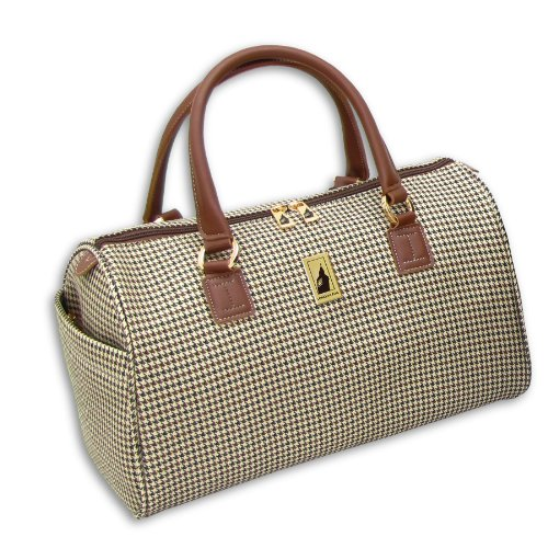 london-fog-luggage-chelsea-16-inch-satchel-tote-olive-plaid-one-size