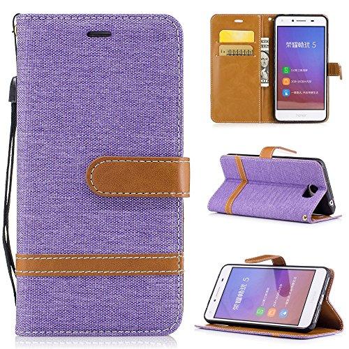 Ooboom® iPhone X Coque Élégant PU Cuir Flip Housse Étui Cover Case Wallet Portefeuille Pochette Supporter Fonction pour iPhone X - Violet Violet
