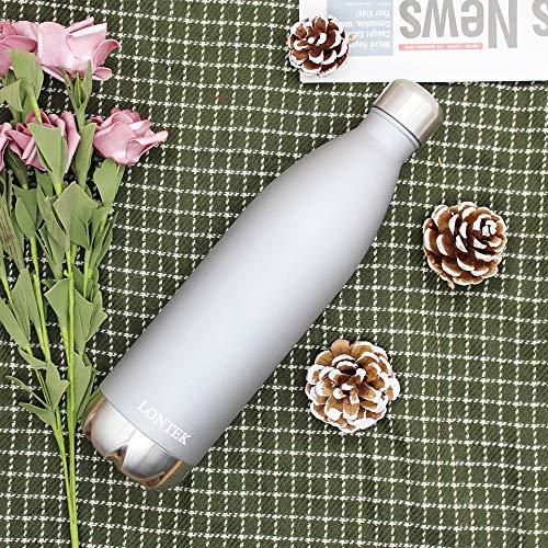 LONTEK Trinkflasche Edelstahl Wasserflasche Doppelwandig Vakuum Isoliert Edelstahl Sport Trinkflaschen