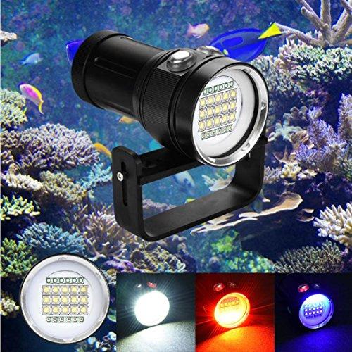 Tauchlampe Unterwasser Taschenlampe, huichang 20000 Lumen 100m wasserdicht LED taucherLampe mit 4x18650 Batteri für Video