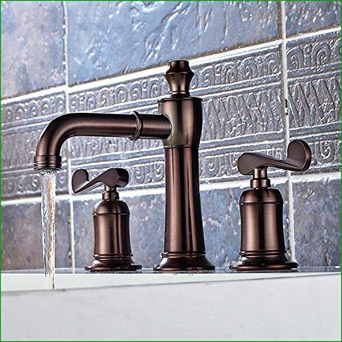 ZHFC-alle kupfer rot - braune wasserhahn bad becken mit einheitlichen loch mit heißem und kaltem wasser nutzen