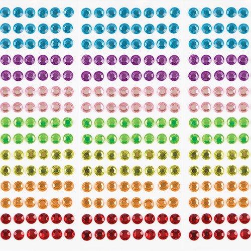 (Selbstklebende Schmucksteine in Regenbogenfarben für Kinder zum Basteln und Gestalten (120 Stück))