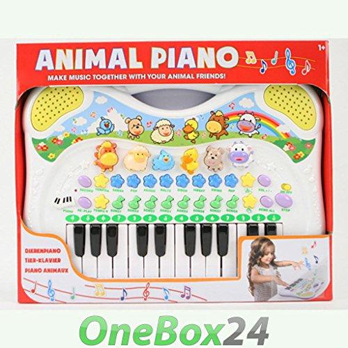 Preisvergleich Produktbild DJ Toys Kinder Keyboard MF Musikinstrument mit Tierstimmen Melodien Aufnahmefunktion
