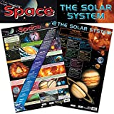 Educational 2-in-1-Platz & The Solar System Wissenschaft Poster/Wandchart, mit Perforationen – 60 cm x 40 cm