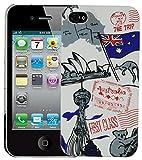 Heartly Flag Printed Design High Quality Hybrid Tough Armor Hard Bumper Back Case Cover For Apple iPhone 4 4S 4G - Australia Amazon
