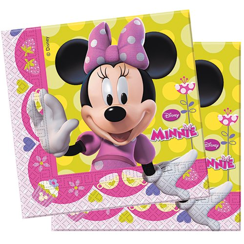 amscan 20 Serviettes en Papier Disney Minnie's Bow-Tique Roses