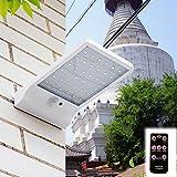 Aussenlampe mit Bewegungsmelder 48 LED Solar Wandleuchte Solarleuchte Außenleuchte mit Fernbedienung Kaltweiß und Warmweiß Dimmbar 2700-6000K, Wett