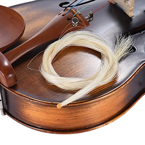 SG Musical High-quality Bow Hair Horsehair Violin Bow Natural Brown Color
