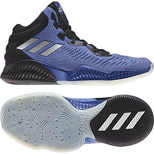 adidas Herren Mad Bounce 2018 Basketballschuhe, Blau Croyal/Silvmt/Cblack, 50 EU