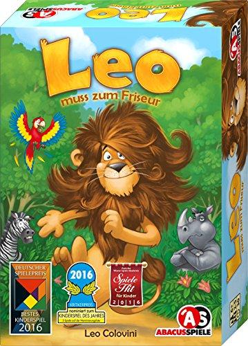 ABACUSSPIELE-04161-LEO-muss-zum-Friseur ABACUSSPIELE 04161 – LEO muss zum Friseur, Kinderspiel -
