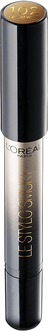 L'Oreal Paris Color Riche Le Stylo Smoky Metallic Eye Shadow, A2 Delicate Wood, 1.5g