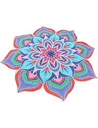 Kinlene Impresión Hippie Tapicería Playa Picnic Throw Yoga Mat Toalla Manta